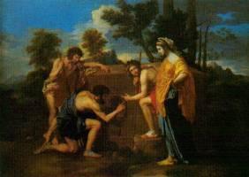 mysterieuze vrouw schilderij